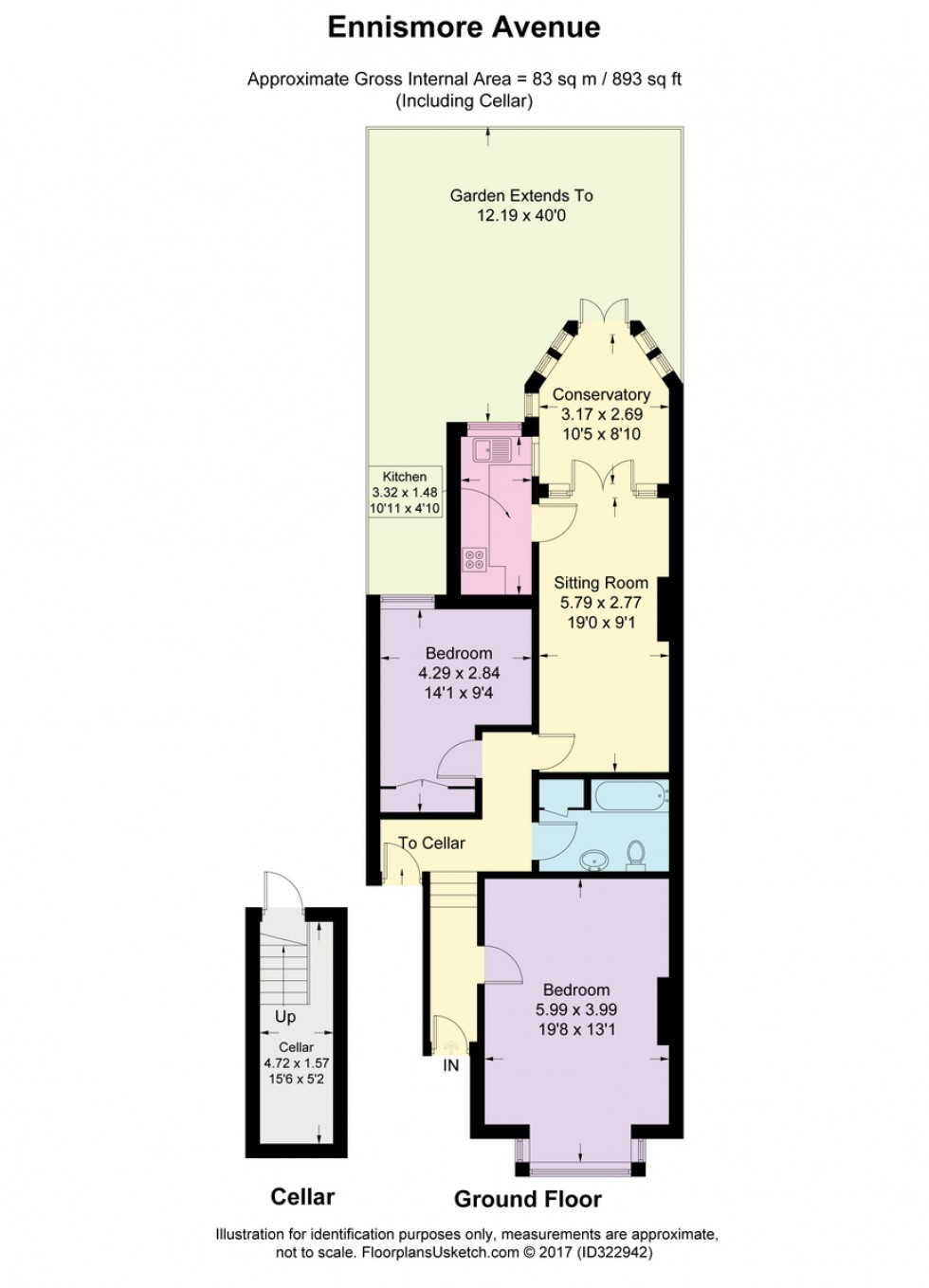Floorplan for Ennismore Avenue, Chiswick