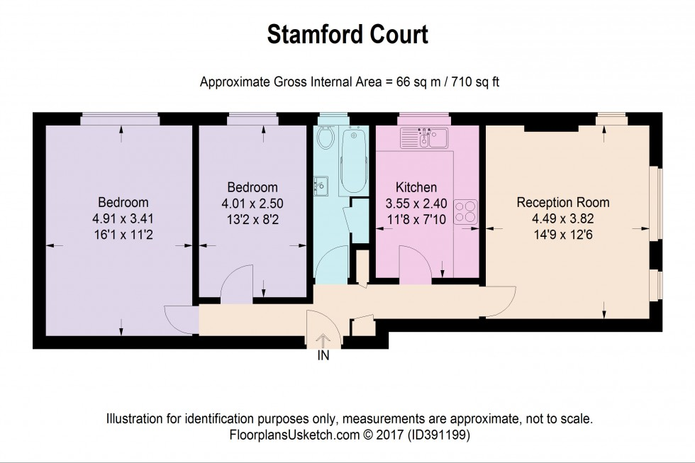 Floorplan for Stamford Court, Goldhawk Road